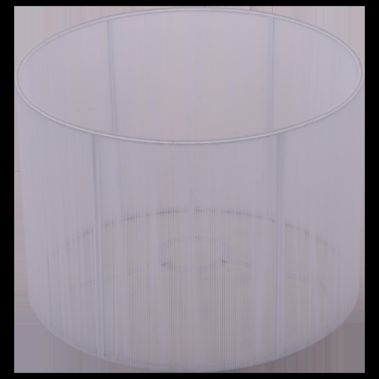 Staande lampenkap Merel cilinder 25 cm wit