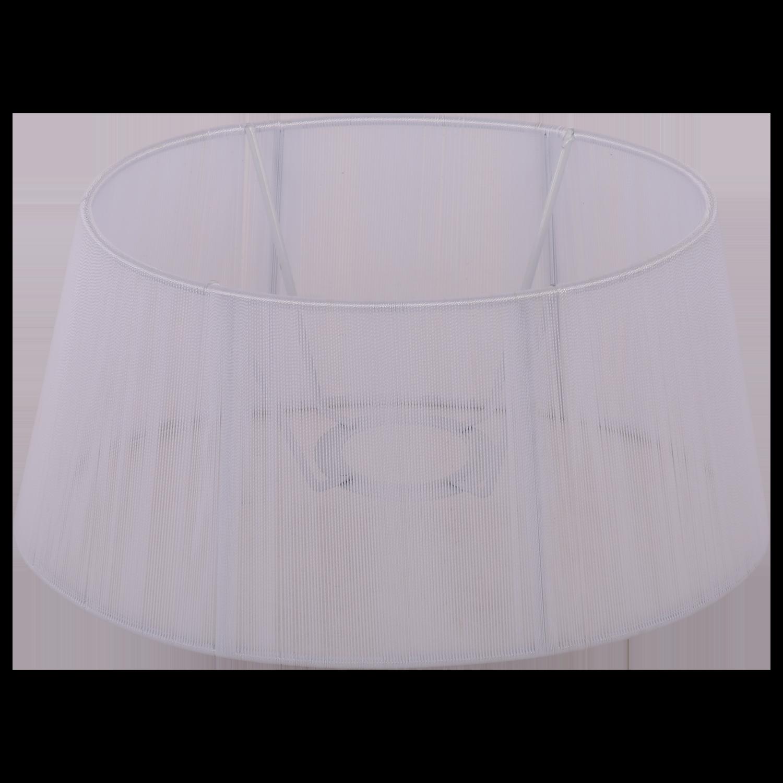 Staande lampenkap Merel ovaal 25 cm wit