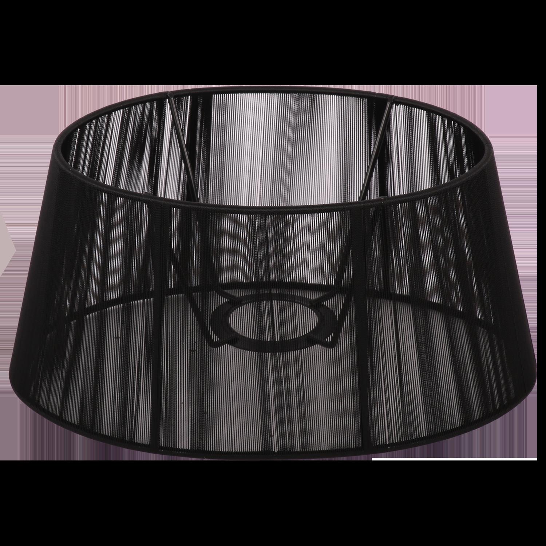 Staande lampenkap Merel ovaal 25 cm zwart