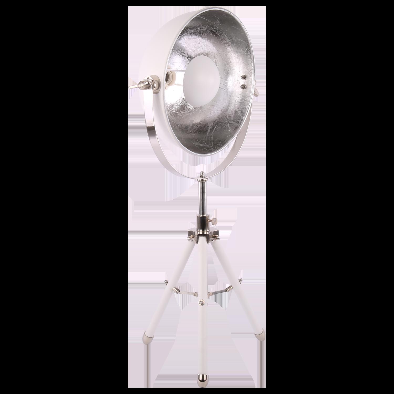 Tafellamp Globe mat wit + zilver