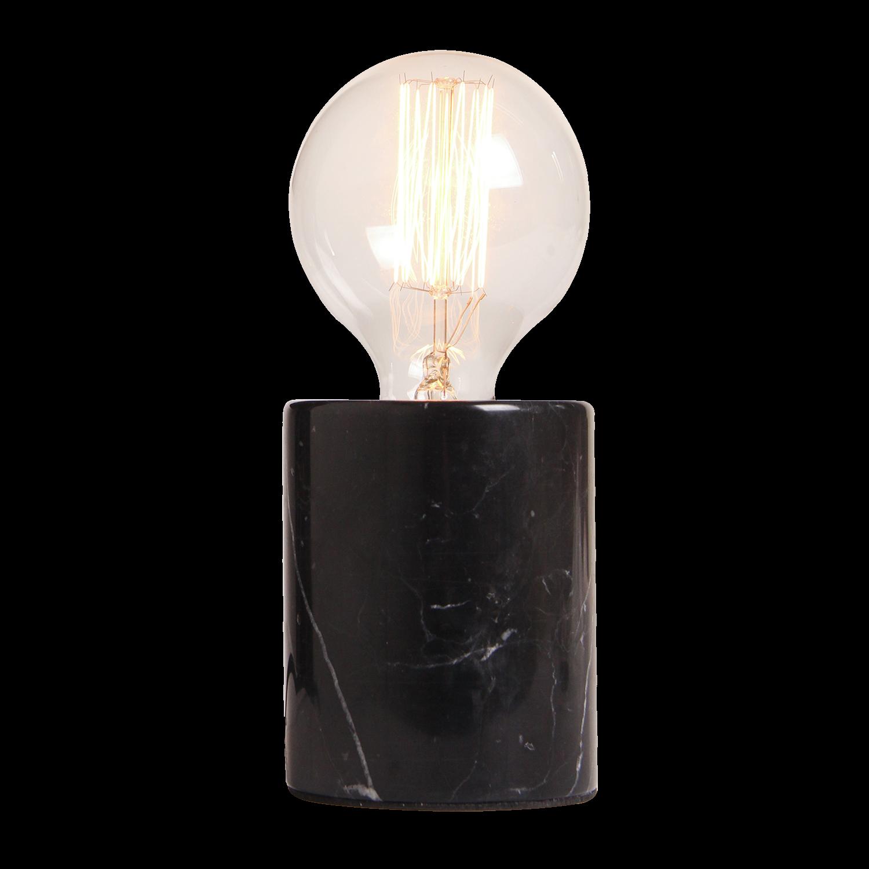 Tafellamp Sweden rond Ø7.5 cm marmer zwart