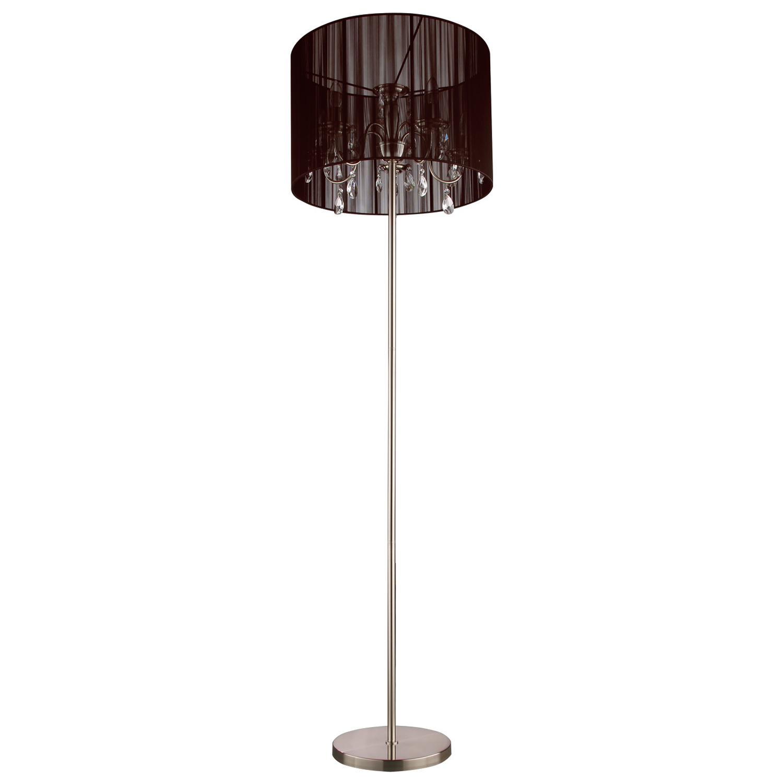 Vloerlamp Merel 5 lichts + donkerbruine kap
