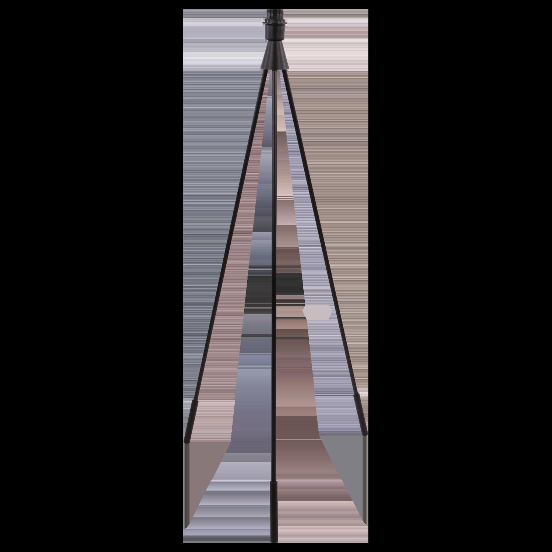 Vloerlamp Olaf base mat zwart