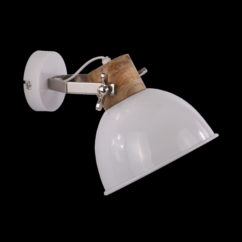 Wandlamp Fabriano klein glans wit