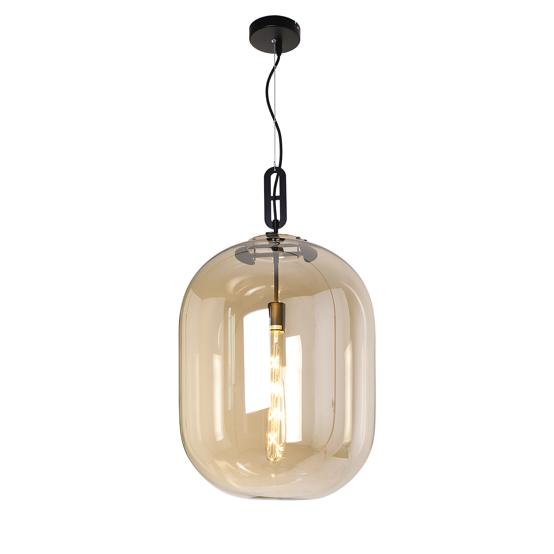 Hanglamp Larino groot Amber