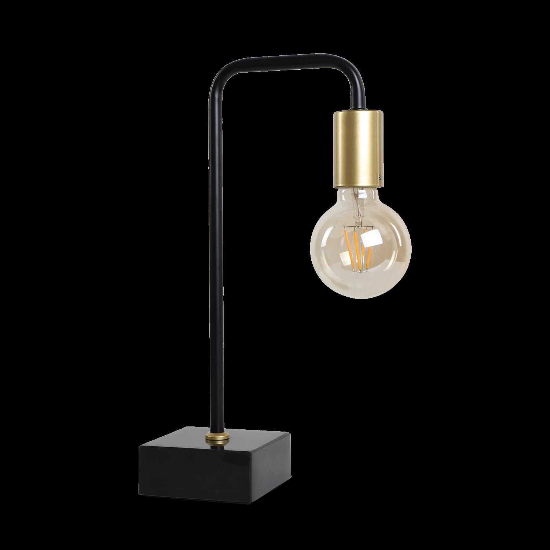 Tafellamp Markanti zwart met goud