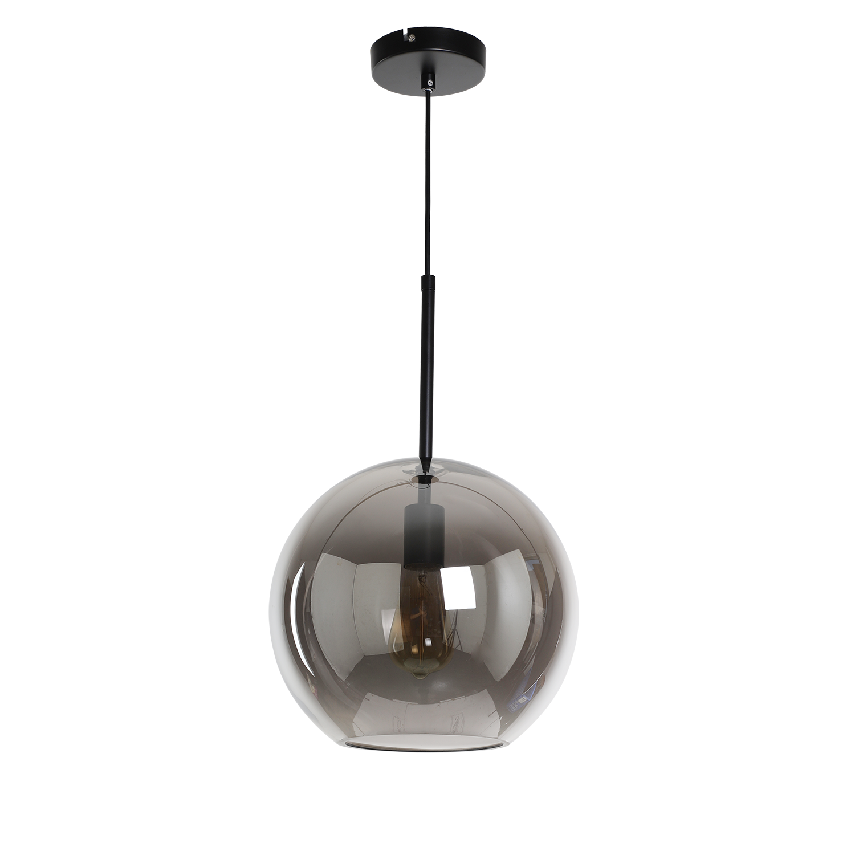 Hanglamp Rivalusso zwart + fume glas