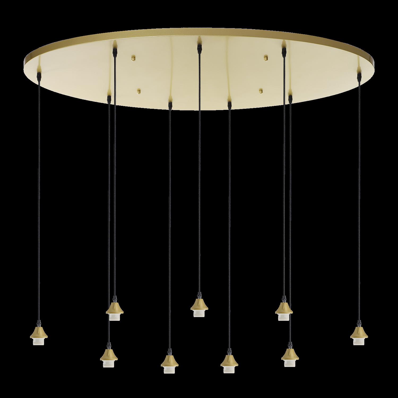 Hanglamp Vilmar ovaal 9 lichts goud