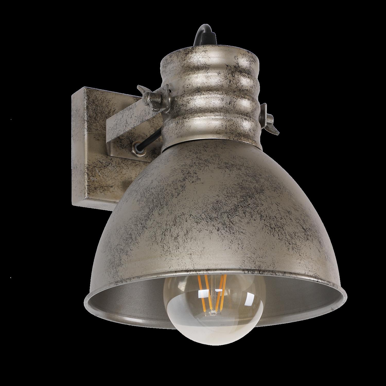 Wandlamp Sophia 1 lichts antiek zilver