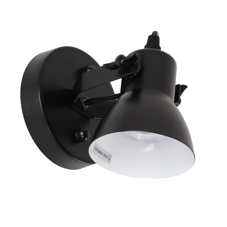Wandlamp Florenza 1 lichts zwart