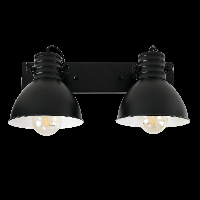 Wandlamp Sophia 2 lichts zwart