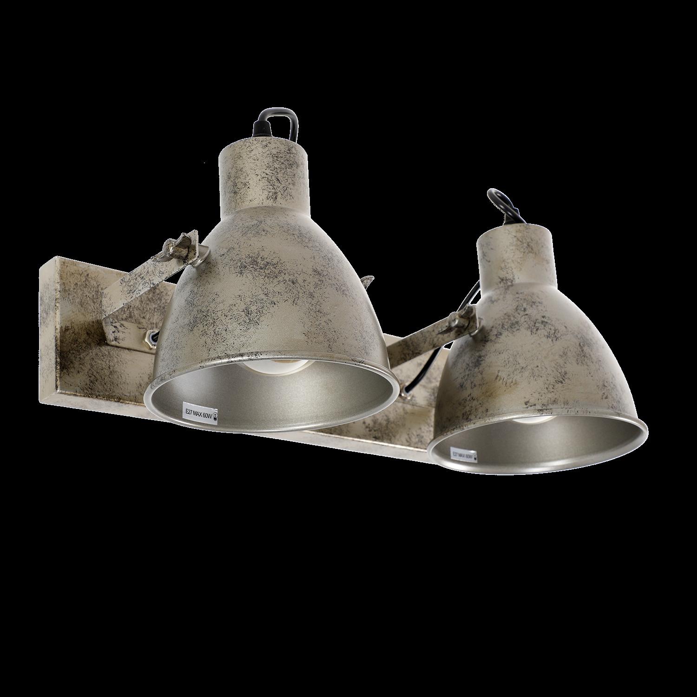 Wandlamp Veronica 2 lichts antiek zilver