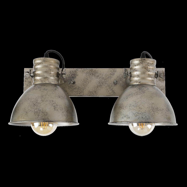 Wandlamp Sophia 2 lichts antiek zilver