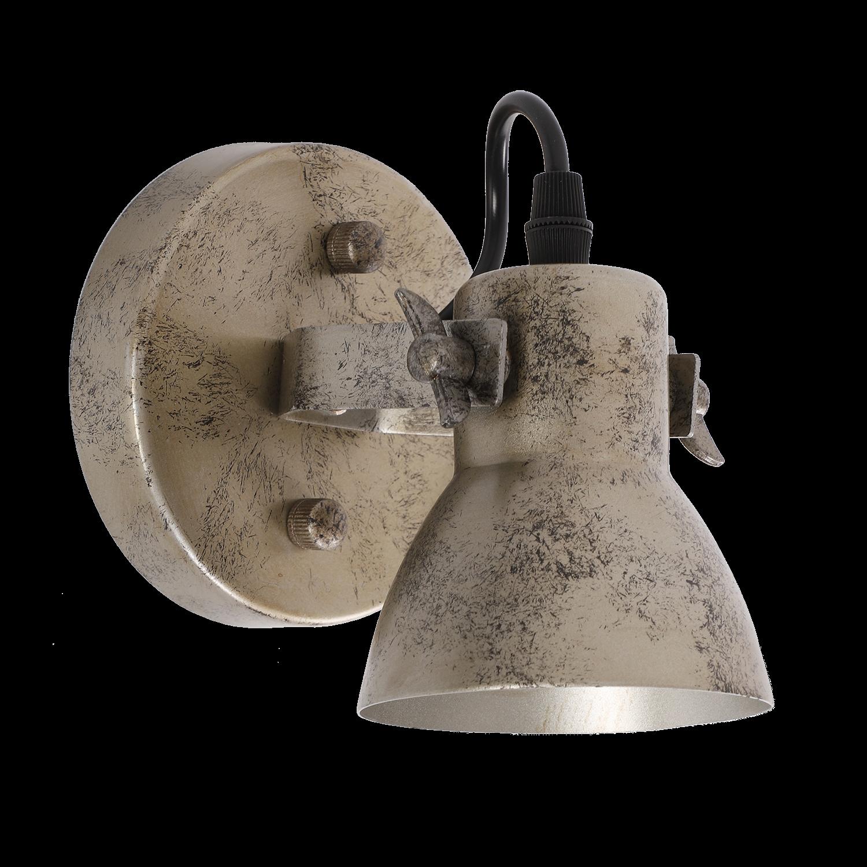 Wandlamp Florenza 1 lichts antiek zilver