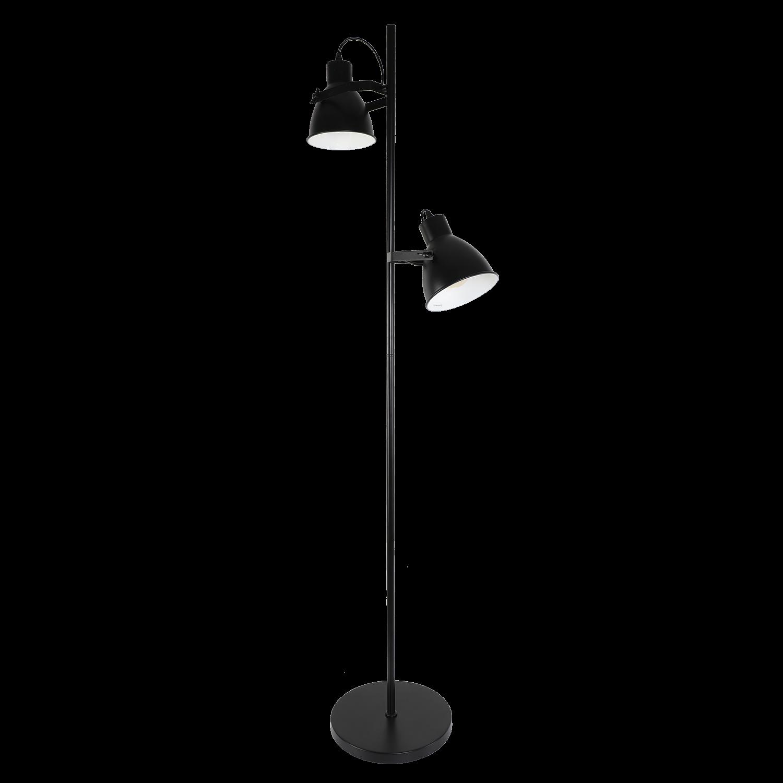 Vloerlamp Veronica 165 cm 2 lichts zwart
