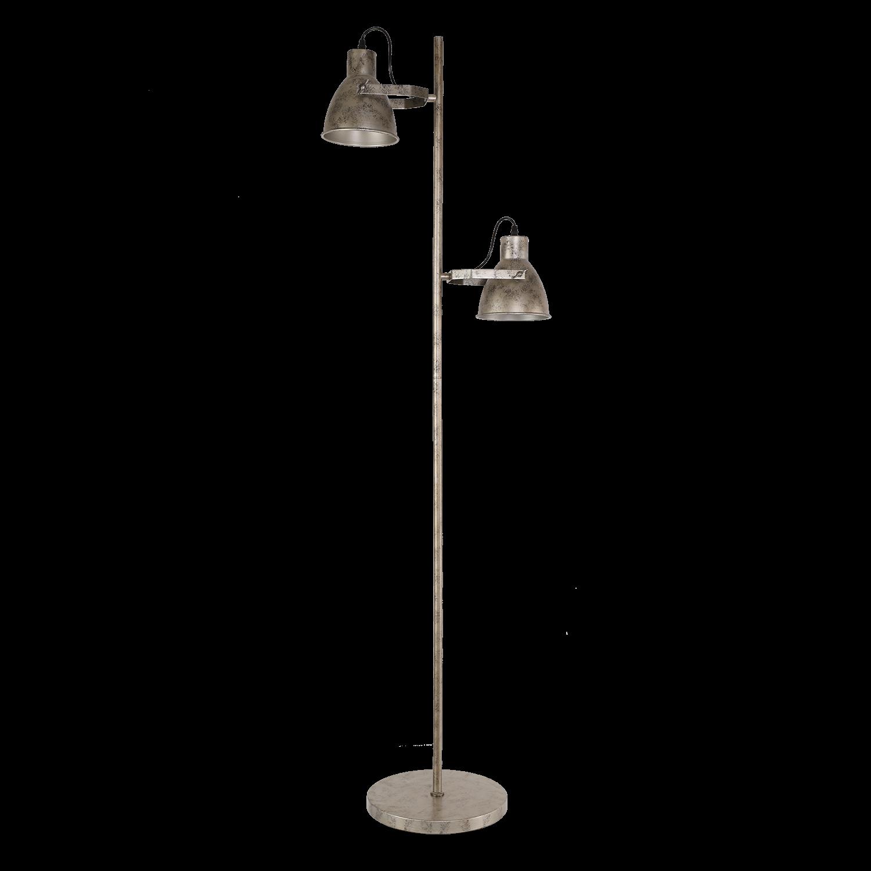 Vloerlamp Veronica 165 cm 2 lichts antiek zilver