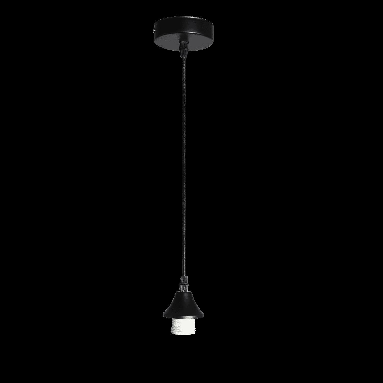 Hanglamp Vilmar 1 lichts mat zwart