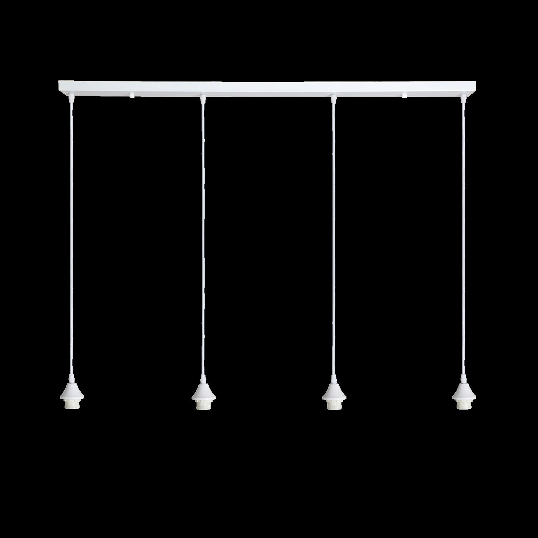 Hanglamp Vilmar 4 lichts wit