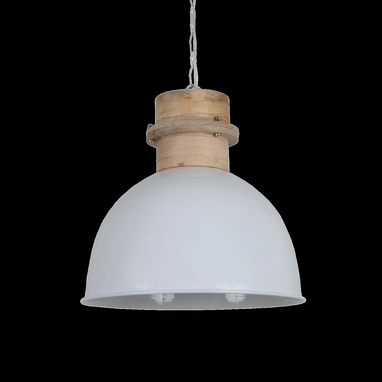 Hanglamp Legno 30 cm glans wit