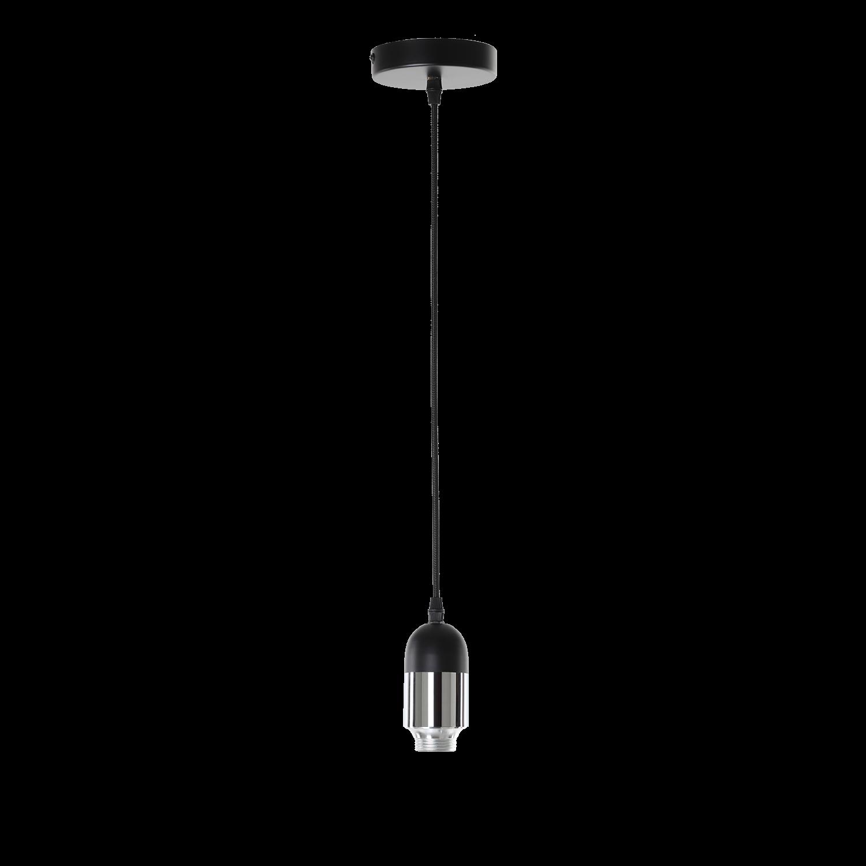Hanglamp Benito klein zwart + chrome