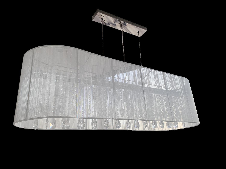 Hanglamp Venezia 5 lichts + ovale witte kap